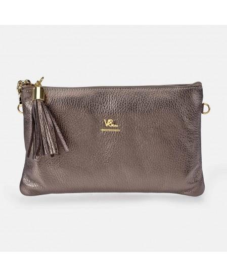 Bolso de mano pequeño con bandolera para mujer Piel Victorio & Lucchino