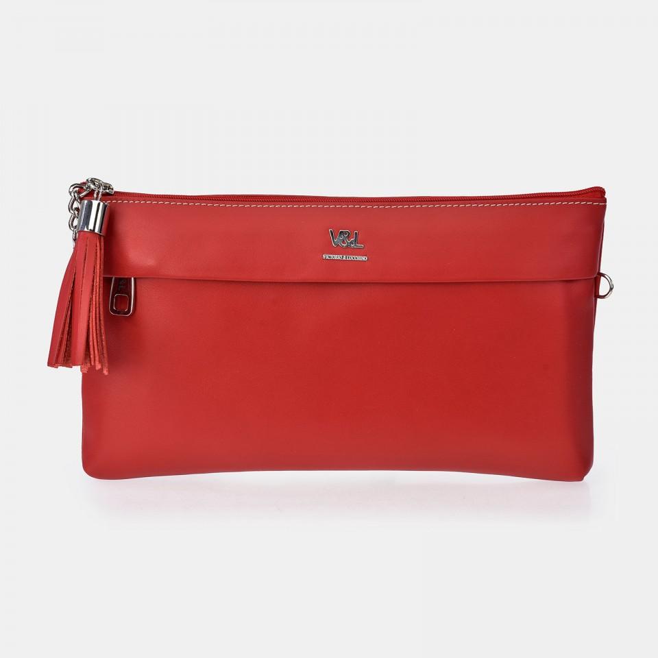 Bolso de mano pequeño Mujer Piel con bandolera y bolsillo delantero Victorio & Lucchino
