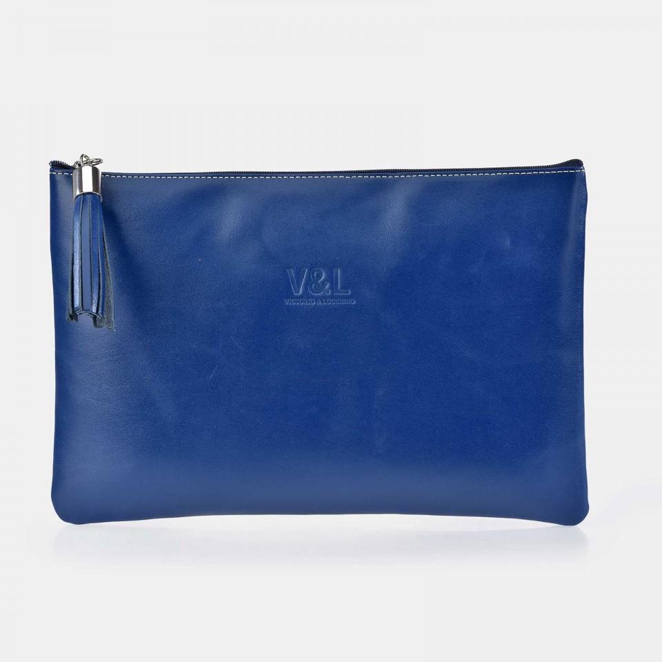 Bolso de mano grande con cremallera para mujer Piel Victorio & Lucchino