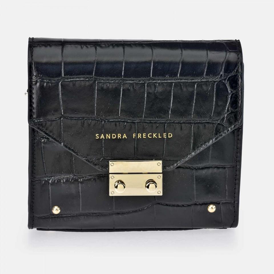 Bolso de Bandolera para Mujer modelo CARMEN Piel grabado Coco SANDRA FRECKLED