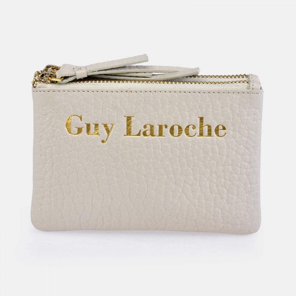 Monedero de Piel para Mujer pequeño con doble cremallera Colección Grano GUY LAROCHE