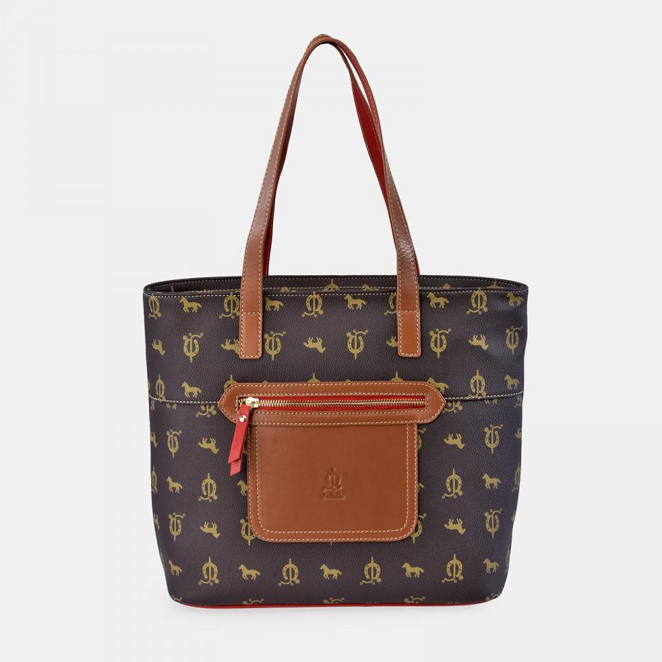 Bolso Shopping doble asa para Mujer calidad Lona Piel EL CABALLO
