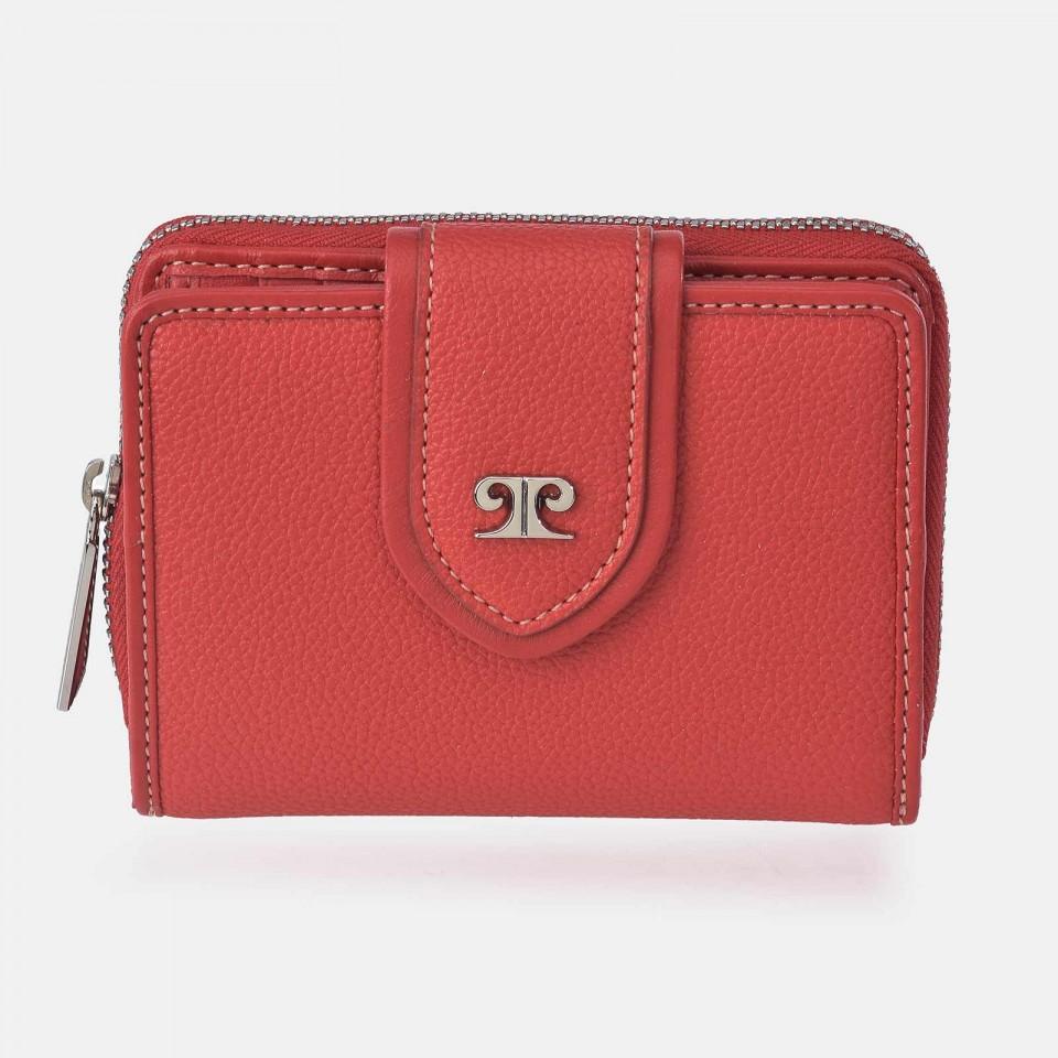 Monedero billetero compacto para Mujer P.U. Pierre Cardin