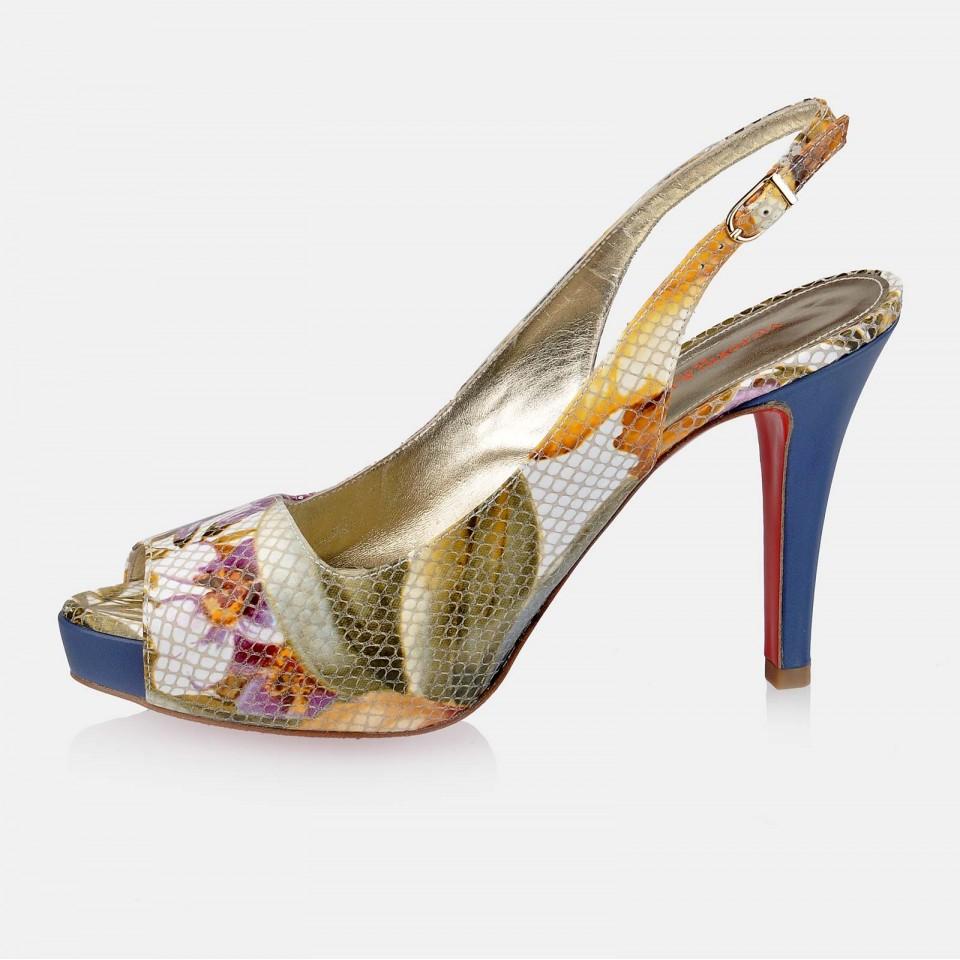 Zapato piel abierto con tacón de mujer Victorio & Lucchino
