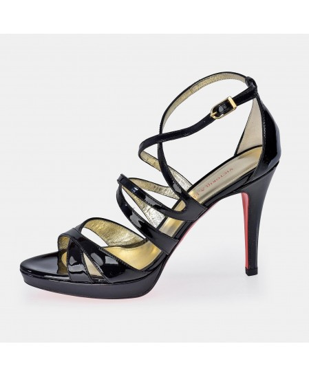 Zapato abierto en piel charol de tacón para mujer Victorio & Lucchino