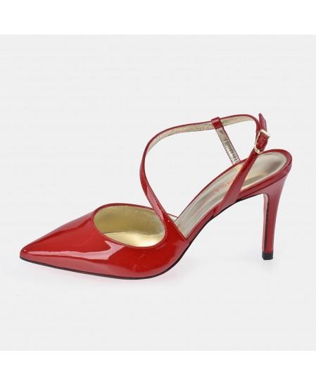 Zapato abierto en piel charol de tacón para mujer Victorio & Lucchino con punta cerrada