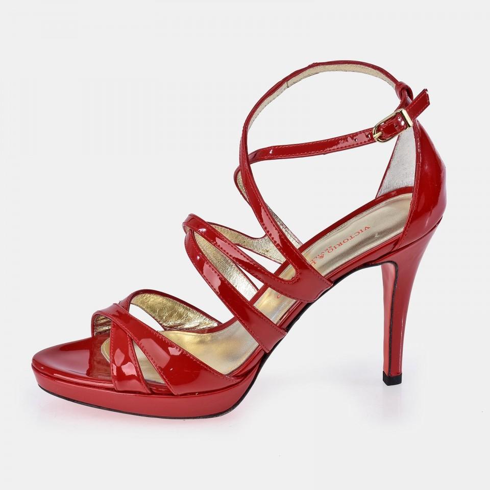 Zapato en piel charol de tacón para mujer Victorio & Lucchino abierto