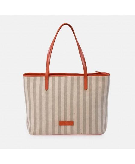 Bolso Shopping mujer GUY LAROCHE canvas rayas