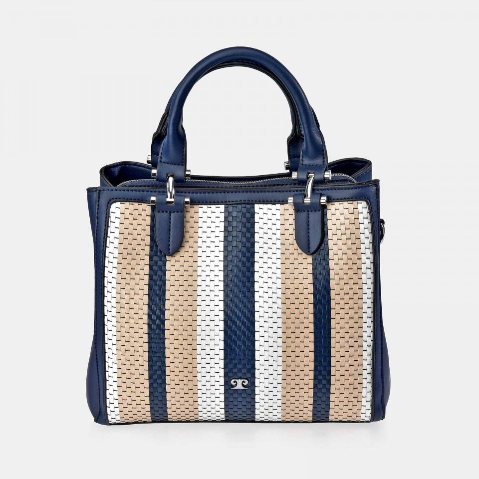 Bolso Shopping mujer PIERRE CARDIN en trenzado sintético azul