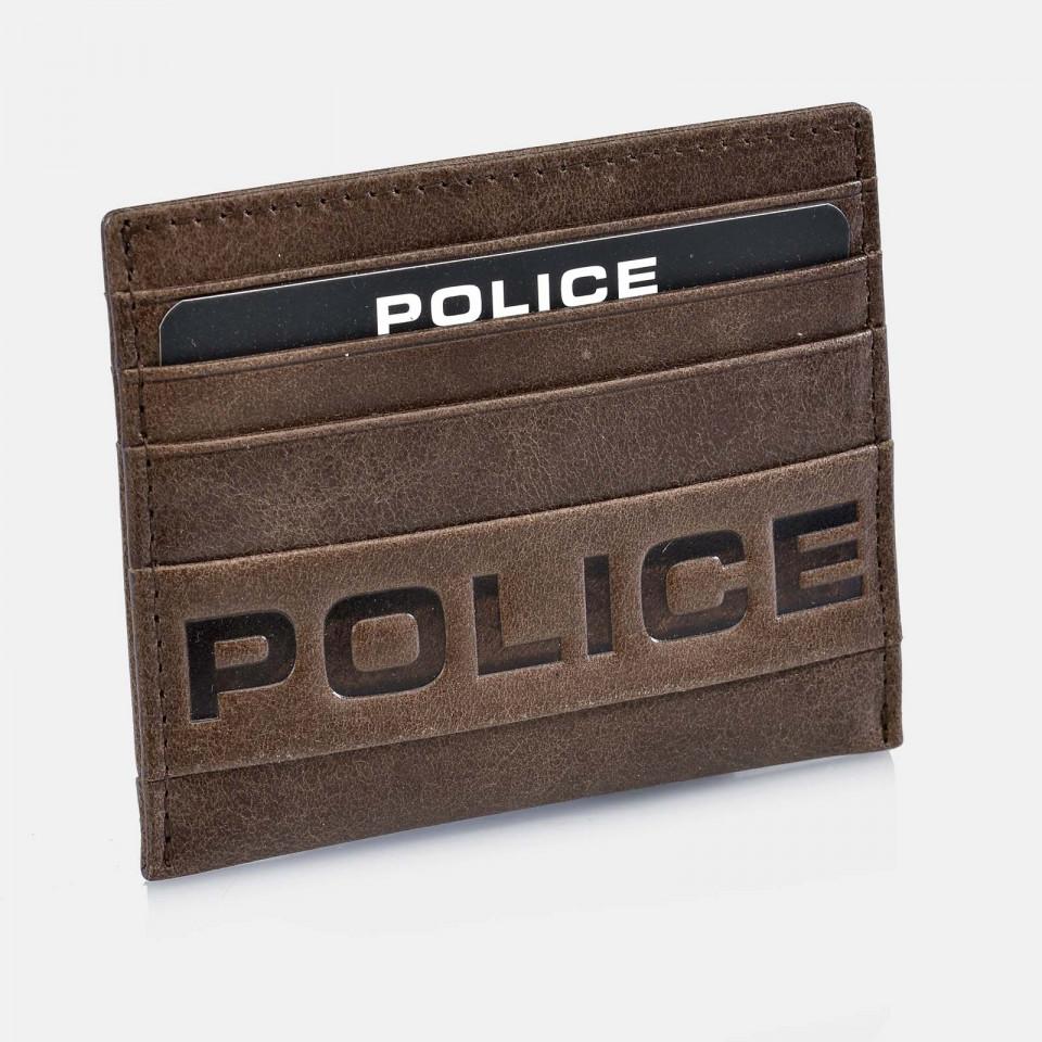 Tarjetero plano de Piel para Hombre Colección Infinity POLICE