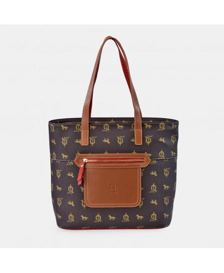 Bolso Shopping doble asa para Mujer calidad Lona- Piel marca EL CABALLO