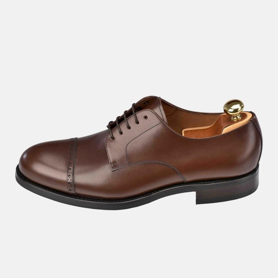 Zapato hombre Blucher con cordones Piel suela cuero YANKO