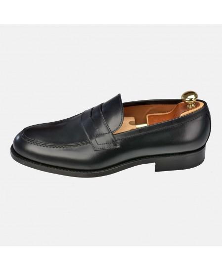 Zapato hombre tipo Mocasin Piel suela cuero y goma YANKO