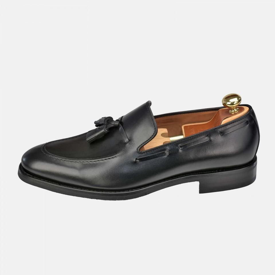 Zapato hombre tipo Mocasin Piel con borlas YANKO