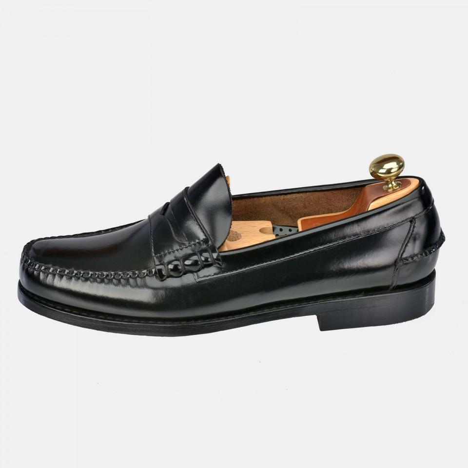 Zapato piel hombre tipo Mocasín Antifaz costuras YANKO