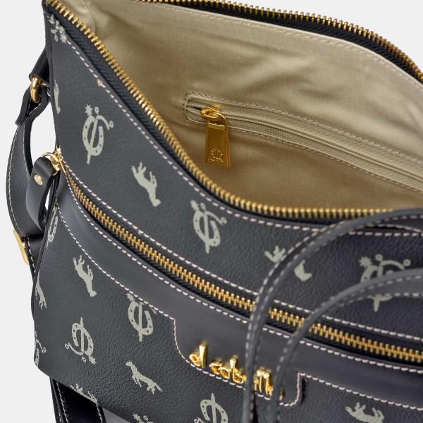 Bolso de Mujer Shopping con Hebillas El Caballo Negro 1021 Outlet